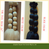 20 Inch White and Black Color Yak Tail Hair Animal Hair