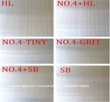 Ss 201 304 Stainless Steel Sheet Hl Finish and No. 4 Surface for Interior Cladding and Kitchen Cabinet Works