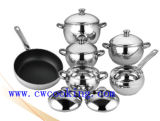 Apple Shaped 11PC Stainless Steel Cookware Set; Kitchenware; Induction