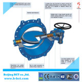 Pn 40 Big Size Double Flanged Double Eccentric Rubber Seated Butterfly Valve