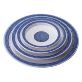 Melamine High Class Dinner Ware 13 Inch Round Deep Plate
