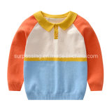 Contrast Color Polo Neck Kids Clothing Wholesale Baby Boys Clothing Garme Clothes Kid Clothes Baby Supplies Baby Products Children′s Apparel Stocks