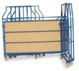 L Type Foldable Metal Roll Container