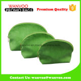 Waterproof Green PU Mirror Cosmetic Bag for Travel