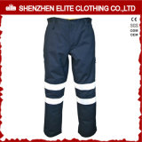 Navy Blue Reflective Cotton Drill Hi Vis Work Pants