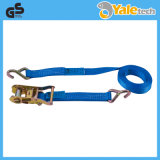 TUV/GS Certified Polyester Ratchet Tensioner with Single J Hooks