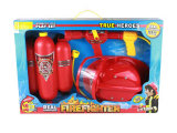 Fireset with Fire Backpack Water Gun and Fire Helmet