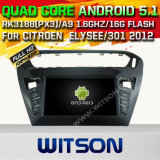 Witson Android 5.1 Car DVD GPS for Citroen Elysee/301