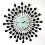 Peacock Metal Clock Decorative Wall Clock Meta Clock