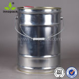 Metal Bucket with Oil Spout 25L Close-Mould Drum with Snap on Lid