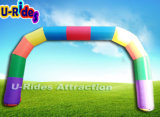 Rainbow color Inflatable archway for grand opening