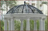 Iron Grill Gazebo Stone Dome Outside