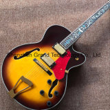 Maple Top Hollow Body Jazz L5 Electric Guitar in Yellow (JH-5)