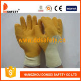 Ddsafety 2017 Beige T/C Shell with Yellow Latex Rough Finished Glove