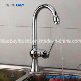 New Modern Kitchen Faucet Hot&Cold Mixer Tap Sink Brass Chrome Single Handle Hole