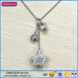 Guangzhou Factory Wholesale Crystal Charm Necklace, Star Fashion Jewelry Necklace