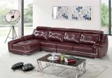 Living Room Leather Sofa with Corner A8029