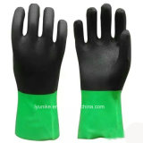 Double Color PVC Safety Working Hand Gloves