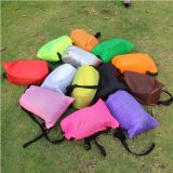 Air Filling and Nylon Fabric Air Bag Inflatable Sleeping Bag