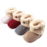 Wholesale Velour Material Baby Booties Winter Shoes Baby Shoes First Steps