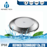WiFi Control IP68 12V Ultra Thin RGBW Surface Mounted 316L Stainless Steel LED Swimming Pool Light Wholesale