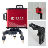 Automatic 360 Degree 8 Lines Red Laser Level with Wall Mount Bracket