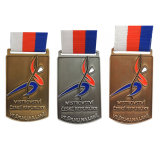 Customized Metal Soft Enamel 1st 2ND 3rd Medal with Lanyard