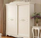 Mediterranean Style Wooden Garderobe Wardrobe with Customize Size