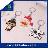 Fashion Gift PVC Keychain Custom Logo Soft Key Ring Holder