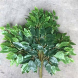 Lifelike Artificial Tree Leaves Plastic Artificial Banyan Leaves for Landscape Decoration