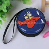 Fashion Style Souvenir Round Zipper Tin Coin Purse