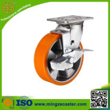 Brake Casters with Aluminium Core PU Wheels