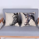 Digital Print Decorative Cushion/Pillow with Horse Pattern (MX-80)