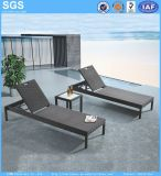 Cheap Outdoor Furniture PE Rattan Sun Lounger