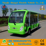 off Road Battery Powered Classic Shuttle Electric Sightseeing Tourist Bus with High Quality for Resort