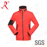 China New Design Plain Red Men′s Softshell Jacket with Hoody (QF-4040)