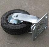 10inch PU Pneumatic Rubber Wheel Swivel Industrial Caster