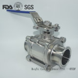 Stainless Steel Three Piece Sanitary Ball Valve for Pharmaceutical Industries