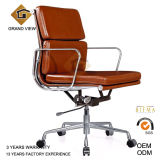 Brown Leather Aluminium Classical Manager Chair (GV-EA217)