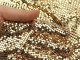Gold Metal Sequin Cloth/Metal Mesh Fabric/Decorative Wire Mesh Room Divider