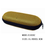 2017 High Quality Eyewear Floded Mesh Hard Sunglasses EVA Glasses Case with Zipper
