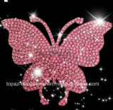 Crystal Sticker Self Adhesive Butterfly Czech Crystal Car Sticker 3D Car Accessories (TP-butterfly)
