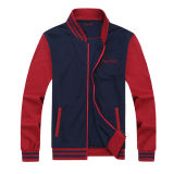 Full Zipper Varsity Men Embroidery Baseball Jacket