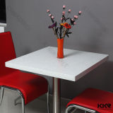 Commercial Design Artificial Stone White Restaurant Table