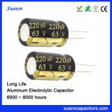 63V 220UF Long Life Aluminum Electrolytic Capacitor