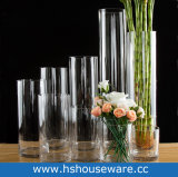 Different Hight Clear Cylinder Glass Vase