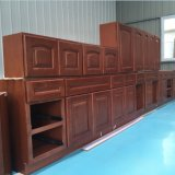 Contemporary Apartment Solid Wooden Frame Structure Kitchen Cabinet with Crab Certificate