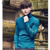 2017 Custom Long Sleeve Knitted Turtleneck Shirts Plain Color Men Swear Shirt Wholesale