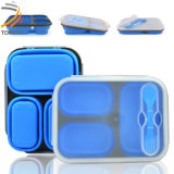 New Design Silicone Microwave Food Container Foldable Lunch Box