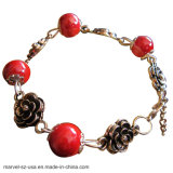 Handmade DIY Ceramic Beads Classic Charm Bracelet Women Jewelry